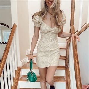 Bardot Spring Daisy Button-up Mini Dress 🌼